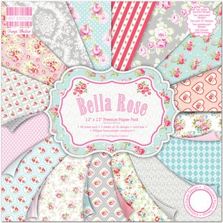 "First Edition Premium Paper Pad 12""X12"" 48/Pkg-Bella Rose"