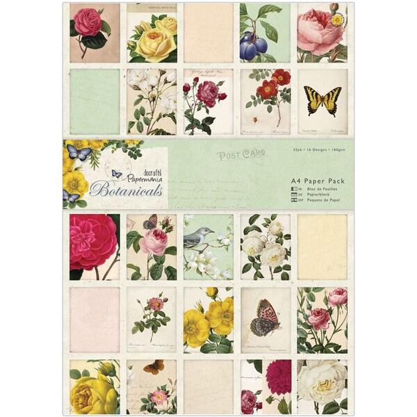 Papermania A4 Paper Pack 32/Pkg-Botanicals