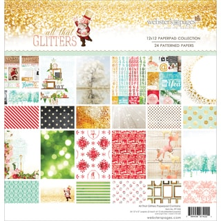 "Webster's Pages Paper Pad 12""X12"" 24/Pkg-All That Glitters"