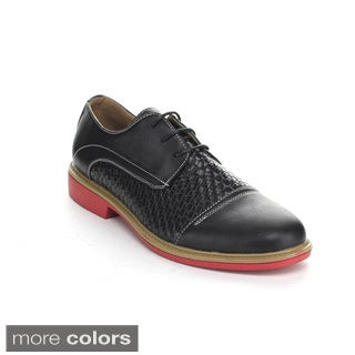 J's Awake 'Eddie-38' Men's Two-tone Lace-up Oxfords