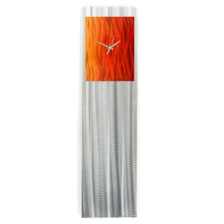 Hand-Crafted Orange Modern Wall Clock