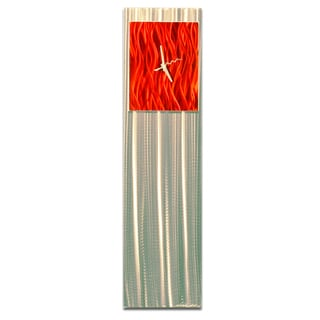 Hand-Crafted Red Abstract Clock