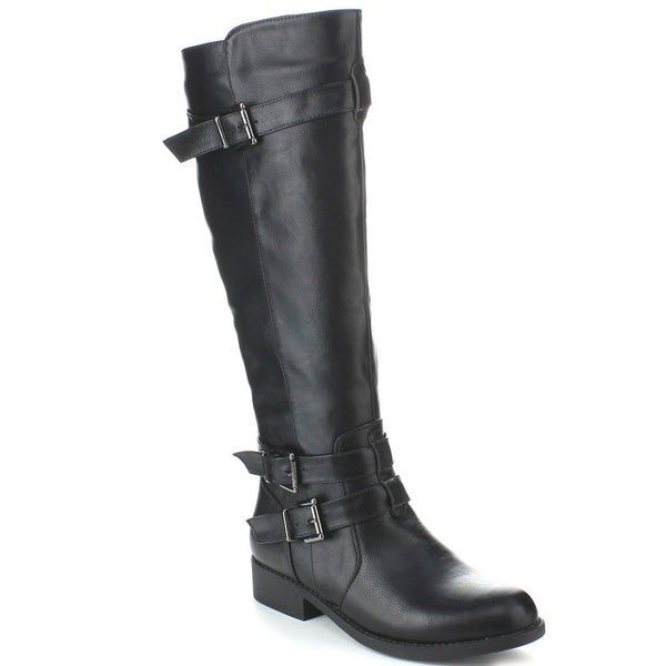 Bonnibel 'Aston-1' Women's Buckle Ankle Strap Knee-high Boots