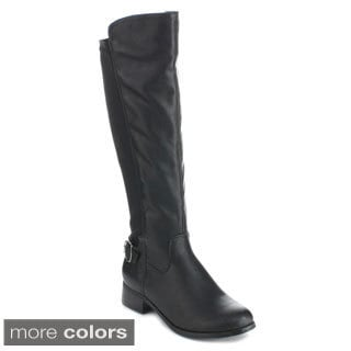 Bonnibel 'Winston-1' Women's Buckle Strap 50/ 50 Knee-high Riding Boots