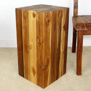 Handmade 12 x 23 Walnut Oiled Hollow Teak Wood Block (Thailand)