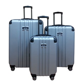 Kenneth Cole Silver Reverb 3-piece Hardside Spinner Luggage Set