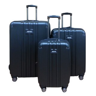 Kenneth Cole Black Reverb 3-piece Hardside Spinner Luggage Set