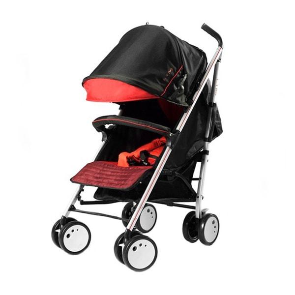 LA Baby Sherman Blvd Lightweight Stroller in Red and Black