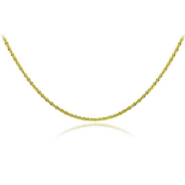 Mondevio 14k Yellow Gold 1.6mm Diamond Cut Rope Chain Necklace
