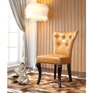 Royal Comfort Maori Luxury Light Brown Faux Leather Dining Chair (Set of 2)