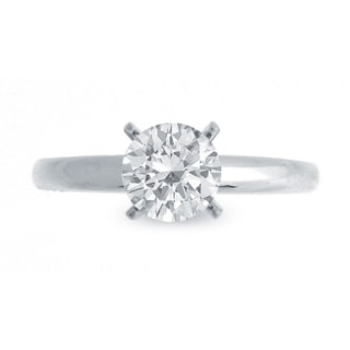14k White Gold 3/4ct TDW Diamond Solitaire Engagement Ring (G-H, SI1-SI2)