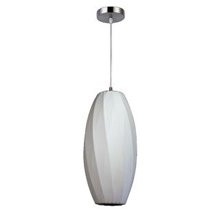 Legion Furniture 12-inch White Cocoon Ceiling Pendant