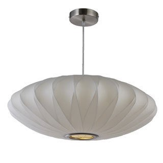 Legion Furniture 22-inch White Oval Cocoon Ceiling Pendant