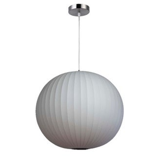 Legion Furniture 27-inch White Round Cocoon Ceiling Pendant