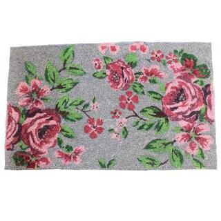 """Printed Coir Floral Doormat (1'6""""X 2'6"""")"""