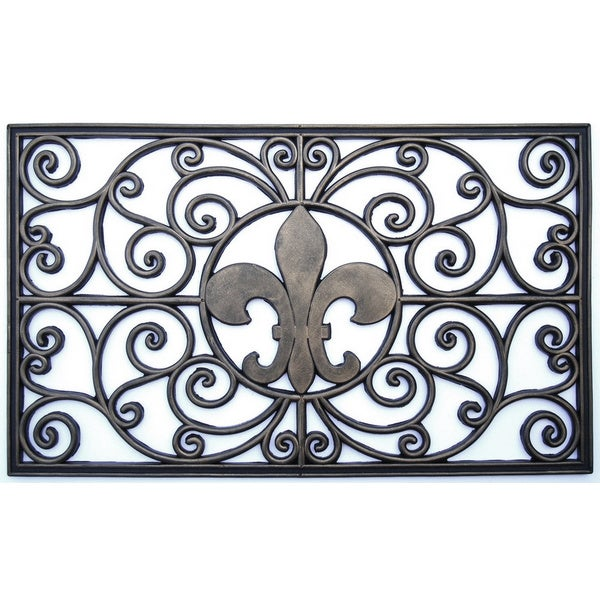 Rubber grill fleur de lis doormat 16733037 shopping big discounts on door mats - Fleur de lis doormat ...