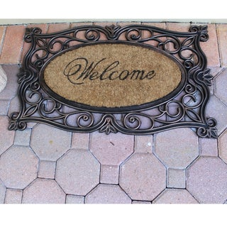 Rubber And Coir Copper Welcome Mat