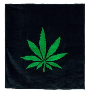 Lavish Home Soft Mink Blanket with Hemp Leaf