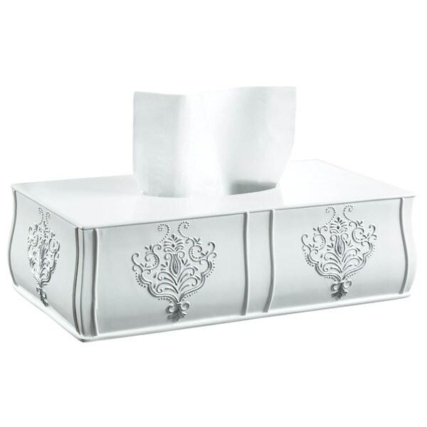 Vintage White Rectangular Tissue Box 14204026