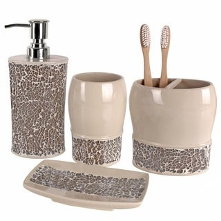Broccostella 4-piece Bath Accessory Set