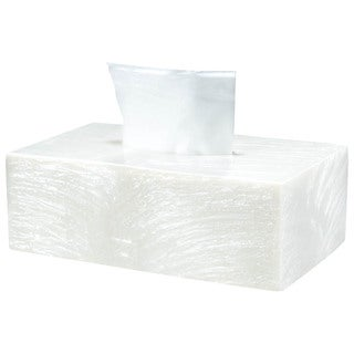 Solitaire Cream Rectangular Tissue Box