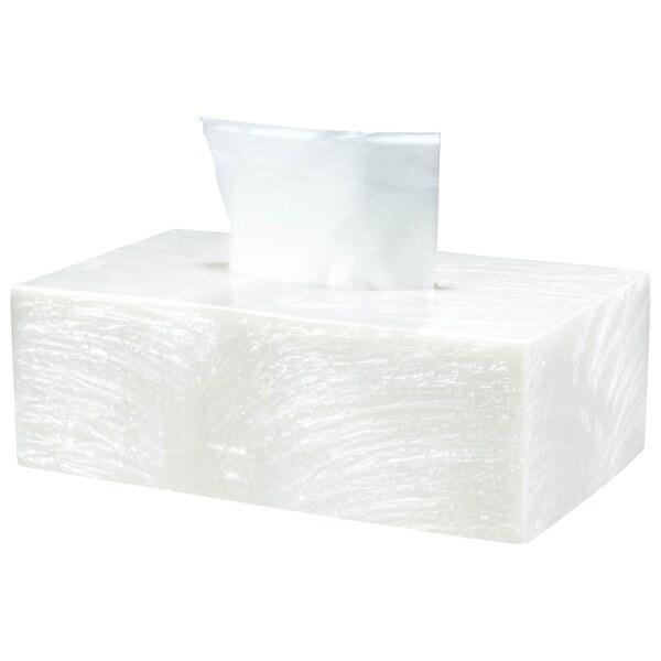 Solitaire Cream Rectangular Tissue Box
