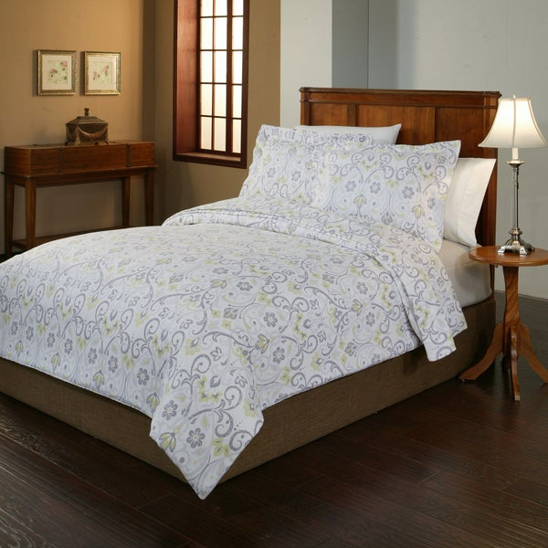 200 GSM Superior Flannel Print Floral Duvet Cover Set