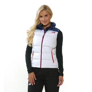 The North Face Women's Village Red and Blue Nupste Vest