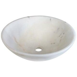MR Direct Round White Granite Vessel Sink
