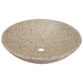 MR Direct Round Tan Granite Vessel Sink