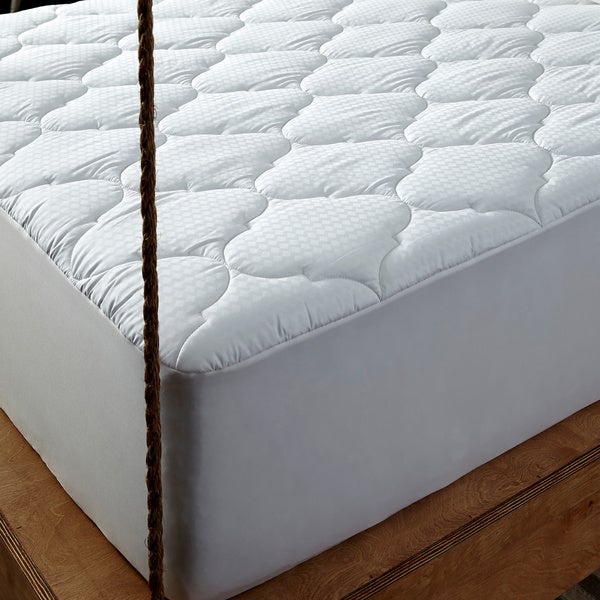 Behrens England 300 Thread Count Cotton Diamond Mattress Pad