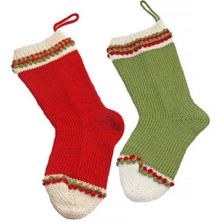 Alpaca 2-piece Christmas Stocking Set (Peru)