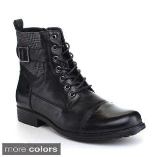 Arider 'Bull-3' Men'sLace-up Side Zipper Ankle Boots