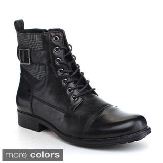 Arider 'Bull-3' Men'sLace-up Side Zipper Ankle Boots