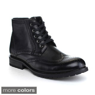 Arider 'Bulk-1' Men's Lace-up Side Zipper Ankle Boots