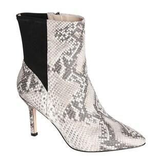 Carolinna Espinosa Women's 'Hannah' Snake Printed Leather Booties