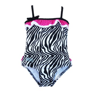 Azul Swimwear Girl's Neon Safari One-piece Swimsuit