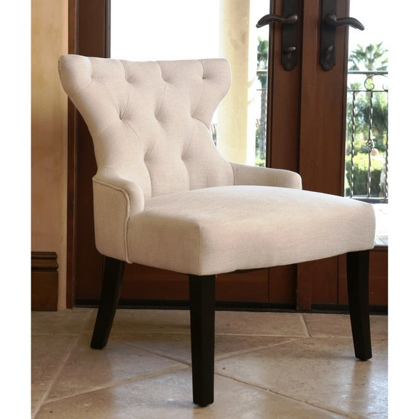 ABBYSON LIVING Colin Ivory Tufted Side Chair