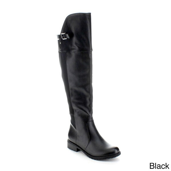 Jacobies 'Compose-3' Women's Two-tone Asymmetric Knee-high Riding Boots
