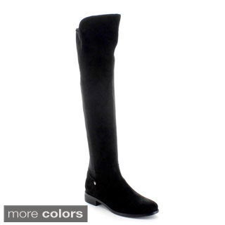 Jacobies 'Brandi-1' Women's Asymmetric Shaft Over-the-knee Boots