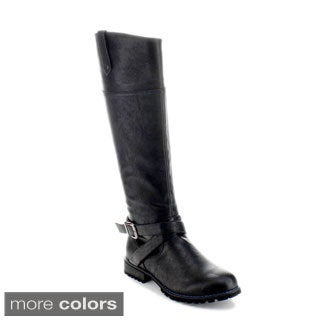 Jacobies 'Chapter-6' Women's Criss-cross Strap Knee-high Riding Boots
