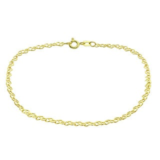 Mondevio 14k Yellow Gold 1.75mm Heart Link Chain Necklace