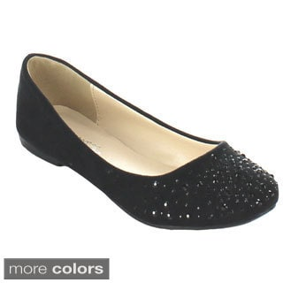 Bonnibel 'Great-4' Women's Slip-on Sparkling Rhinestone Ballet Flats