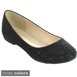 Bonnibel 'Great-5' Women's Sparkling Glitter Slip-on Ballet Flats