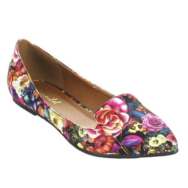 Bonnibel 'Casana-3' Women's Flower Print Slip-on Loafer Ballet Flats