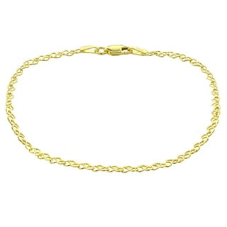 Mondevio 14k Yellow Gold 2.75mm Heart Link Chain Necklace