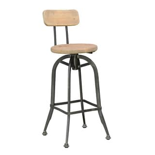 30-inch Pine and Iron Buster Barstool