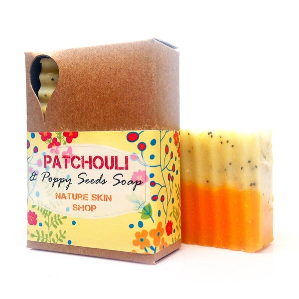 Patchouli Poppy Seeds Shea Soap