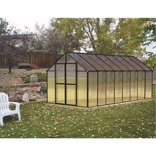 Monticello (8x16) Black Premium Greenhouse