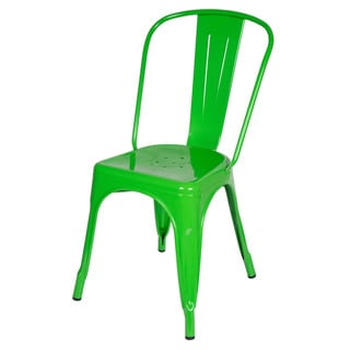 Design Tree Home Steel Metal Tolix-style Green Dining Chair (China)